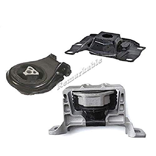 (Remarkable Power Fit For 2004-2009 Mazda 3 2.3L Trans Engine Motor Mount Set w/Hydraulic G089)