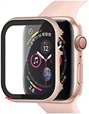 YGGFA Glas+Frame matel case Voor Apple Horloge 5 4 3 44mm 42mm voor iwatch band 40mm 38mm Metalen bumper All-around screen protector frame Horloge band