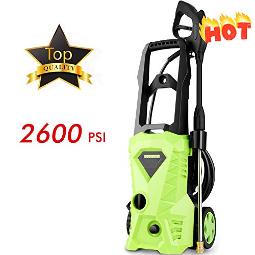 Flagup 2600 PSI Max Power Pressure Washer, 1600W Electric Pr