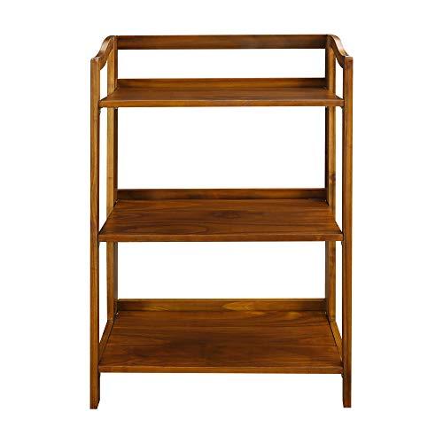 Casual Home 337-34 Stratford 3-Shelf Folding Bookcase-Warm ()