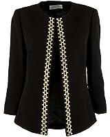 Tahari By ASL Jeweled Blazer Jacket