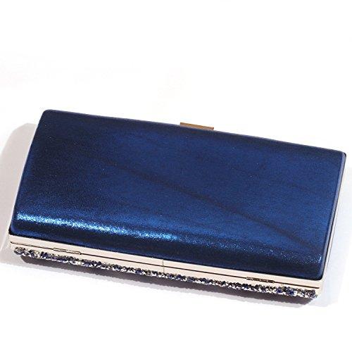 Sequins Rectangle Evening Bags Sparkle Clutch Elegant Shape women Digabi Shiny Blue wpItBq
