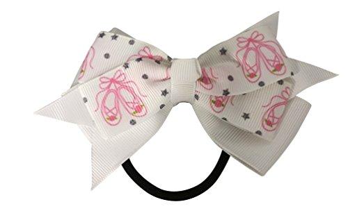 Dance Hair Bow Girls Dance Hair Accessories- Dance Elastics - Perfect Gift For Dance Recitals