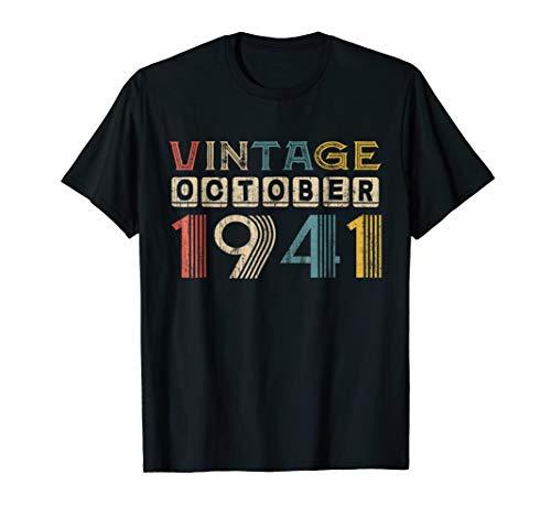 Vintage Retro October 1941 Shirt 77th Birthday Gift