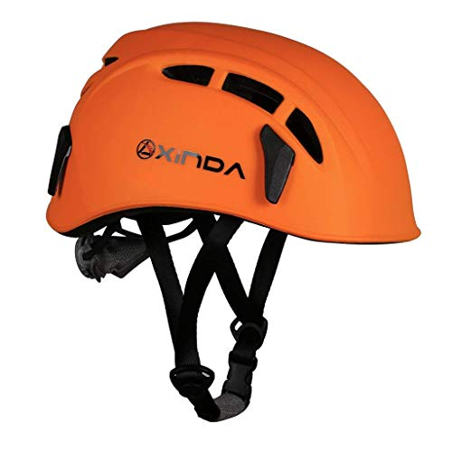 (Heemtle Safety Helmet Rock Climbing Tree Caving Kayaking Rappel Rescue Hard Hat 7 Colors Optional (Adjustable:52-62CM))