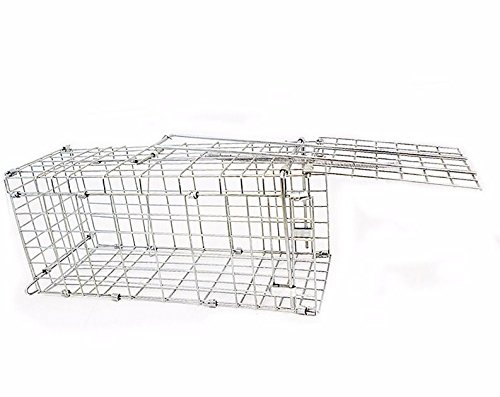 "16"" Animal Trap Humane Live Cage Collapsible One Door Mou..."