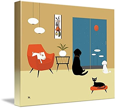 Amazon.com: Wall Art Print entitled Mid Century Modern Animals by ...