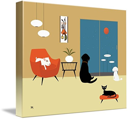 Imagekind Wall Art Print entitled Mid Century Modern Animals by Donna Mibus 41dCHWa4qNL
