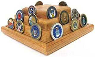 product image for flag connections Military Challenge Coins - Pyramid Coin Display