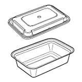24 oz Microwaveable White Rectangular Container Lid Combo 150 CT