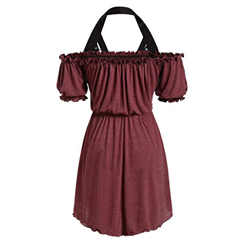 (Plus Size Skirts for Women Midi Length,Londony ✡ Ladies 1950s Retro Vintage A-Line Cap Sleeve Cocktail Swing Party Dress Red)