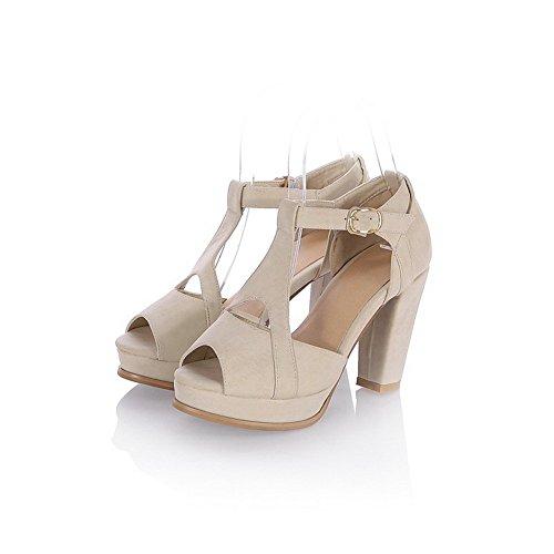 Weiche BalaMasa Heels Heels High Chunky Material Sandalen Beige Womens aq4Xqr1C