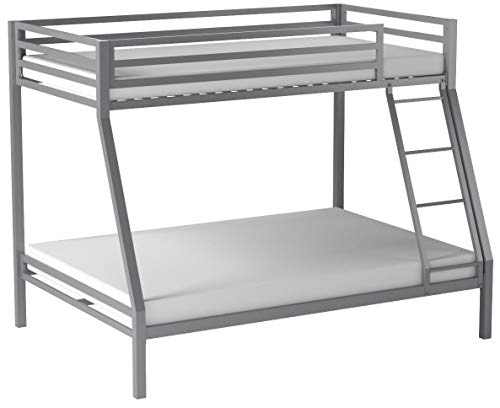 Your Zone Premium Twin-Over-Full bunk Bed,Silver (Silver)