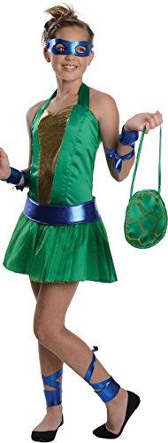 Cute 70s Costumes (Teenage Mutant Ninja Turtles Sassy Tween Girl's Leonardo Costume, Medium)