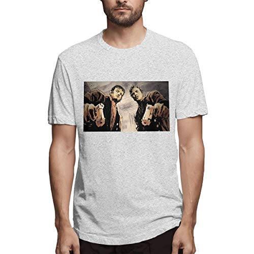 BTBANIN Mens The Boondock Saints Fashionable T Shirt XXL Gray (Boondock Saints St Patricks Day T Shirt)