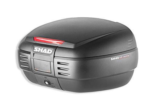 SHAD D0B49100 Topcase mit Montageplatte Enthalten, Schwarz