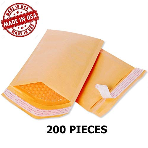 Wholesale Kraft Bubble Mailers Padded Bubble Envelopes for Ebay Paypal Shipping Envelopes Sizes #0#00#000#1#2#3#4#5#6#7! (#2-200 Envelopes - 8.5