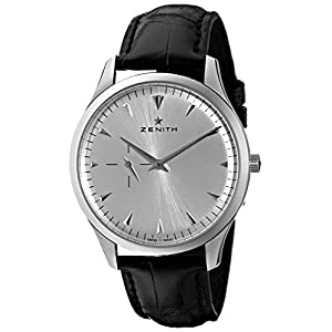 Zenith Men's 03.2010.681/01.c493 Elite Ultra Thin Silver Sunray Dial Watch