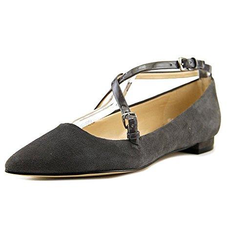 Nine West Anastagia Daim Chaussure Plate Dark Grey/Dark Grey Suede FsrC4COpg