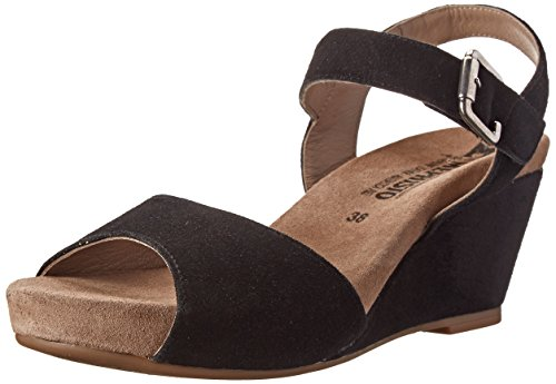 Mephisto Women's Beauty Wedge Sandal, Black Velcalf Premium, 9 M US ()