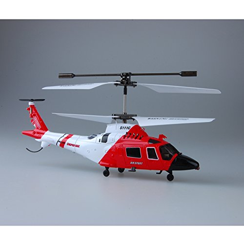 DishyKooker Coast Guard Rescue RC 3.5CH Gyro Helicopter Mini Infrared Remote Controlled Sy-ma Heli S111G