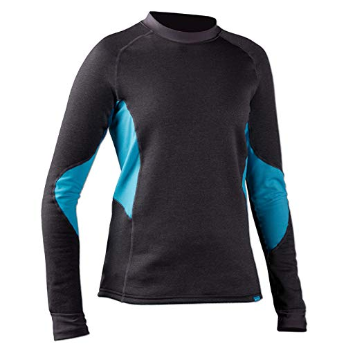 NRS H2Core Expedition Weight Shirt - Women's Charcoal Heather Small by NRS