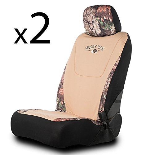 (Mossy Oak Camo Seat Covers | Low Back | Country/Khaki | 2 Pack)