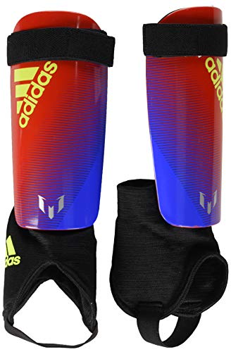 - adidas Youth Messi 10 Shinguard, Bold Blue/Active Red/Silver Met, Large