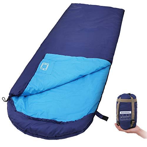 SONGMICS Sleeping Bag with Hood for 20℉-50℉, Lightweight