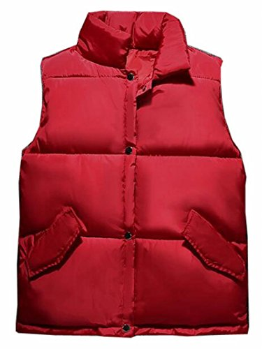 Red Men's Lightweight UK Fall Sleeveless Vests Down Packable and Coat Winter today Puffer xw67Cqx