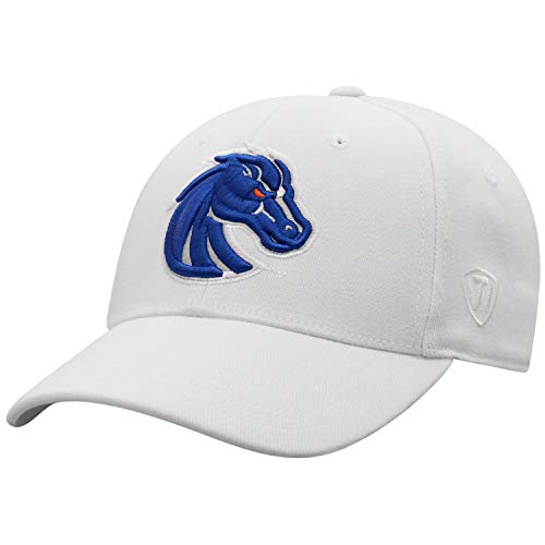 Top of the World Boise State Broncos Men's Memory Fit Hat Icon, White, One Fit Boise State Broncos Wool