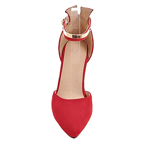 Coolcept Mujer DOrsay Bombas Zapatos Red-8.5CM
