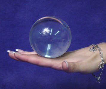 Clear Acrylic Contact Juggling Ball - 2.75