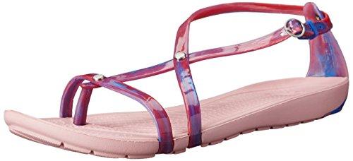 Davvero Sandalo Crocs Blu rosa Multi Marmorizzata Petalo Sexi Odtgtq4
