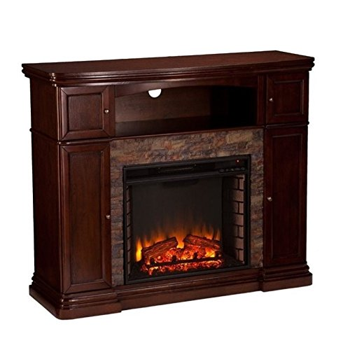 (Southern Enterprises Hillcrest Electric Media Fireplace, Espresso)