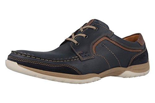 FRETZ men - Zapatos de cordones de Piel para hombre Azul azul Azul - azul