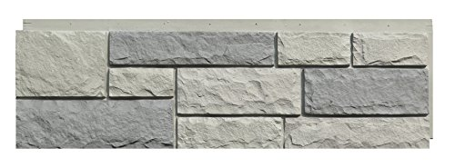 NextStone Faux Polyurethane Stone Siding - Random Rock Tri Gray (4 Panels Per Box)(19 Sq.Ft. Per Box)