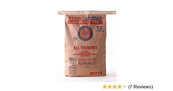 All Trumps Bleached Bromated Enriched Malted High Gluten Flour, 25 Pound --  1 each
