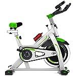 LSYOA-Magnetico-Indoor-Cycling-Cinghia-Fermo-Biciclette-Sportivo-Moto-con-LCD-Monitor-Verticale-Spin-BikeGreen