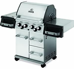Broil King 996644 Imperial 490 Liquid Propane Gas Grill with Side Burner and Rear Rotisserie