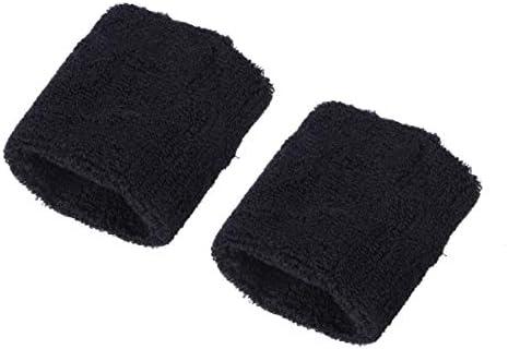 HEALLILY Handgelenkstütze Sport Armband Dehnbare Baumwollhandbänder für Arthritis Und Tendinitis Schmerzlinderung 6 Paare (Schwarz)