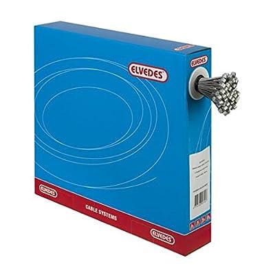 Image of Elvedes Unisex's Inner Cables Brake Universal Stainless Steel Slick 2000 mm Nipple O76 mm in Dispenser Box 100pcs. -Black