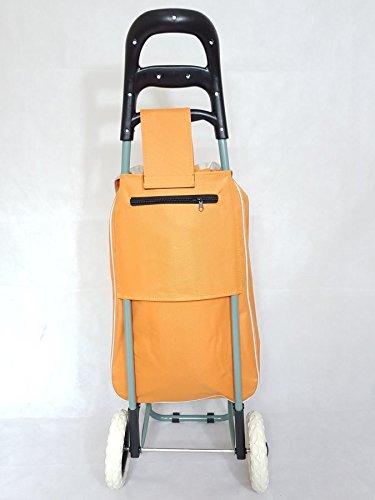 discountseller Zusammenfaltbarer Einkaufstrolley Cartbag Rädern Rolling Utility Gepäck Lebensmittels (grün) Orange ZMt654hc