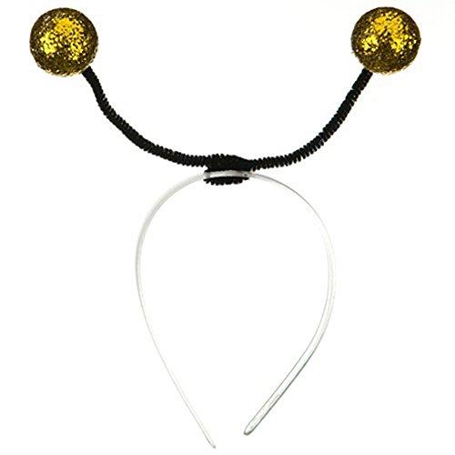 Glitter Gold Bumble Bee Antennae Costume Headband ()
