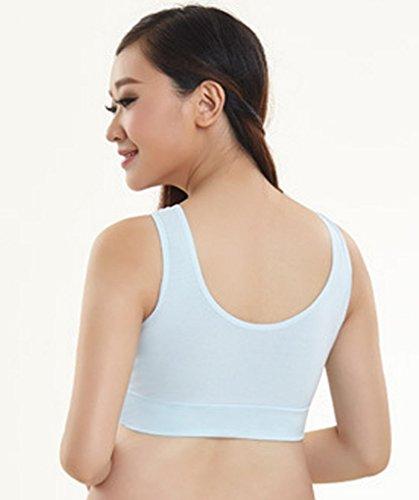 Sujetador sin armadura lactancia lactancia ropa interior Nursing Bra-Sujetador Soft-Gorro Azul