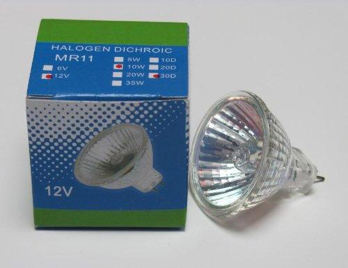 Fibre Lights Optic (CBconcept 10XMR1120W Halogen MR11 12Volt 20Watt Fiber Optic Light Bulb - 10 Bulbs)