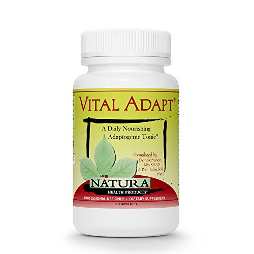 Vital Adapt Adrenal Support and Cortisol Support Manager Supplement by Natura Health Products - Natural Stress and Fatigue Relief with Ashwagandha and Rhodiola - 60 Capsules