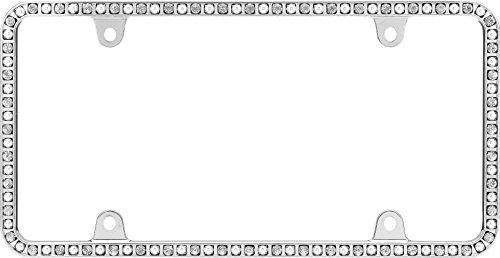 Cruiser Accessories 18250 Chrome/Clear/Pearls Pearlesque License ()
