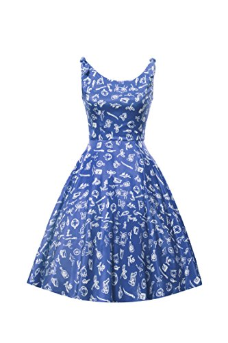 LUOUSE-Women-Vintage-Back-V-50s-60s-Cocktail-Swing-Tea-Dresses
