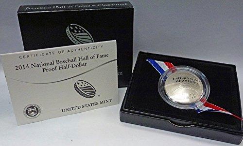 2014 S Modern Commemorative National Baseball Hall of Fame Proof Half-Dollar OGP US Mint